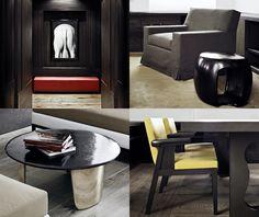 Elegant ecletic interior design by Christian-Liaigre. RÉSIDENCES PRIVÉES, Londres  #frenchinteriordesign #architecturedinterieur
