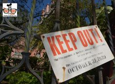 "The Tower of Terror was down...  providing a cool photo opp of the ""Keep out"" Sign that's behind the gates."