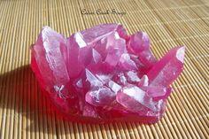 Rose Quartz Soap Rock Crystal Formation by CedarCreekSoaps1
