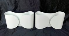 "ORIGINAL PAIR Mid century Wall sconces ""Foglio"" by Tobia Scarpa for FLOS 1966 