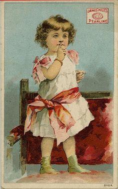 James Pyles Pearline - Vintage Trade Card