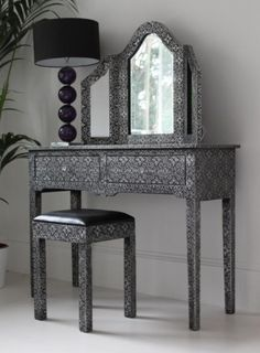 Embossed dressing table set from Out There Interiors