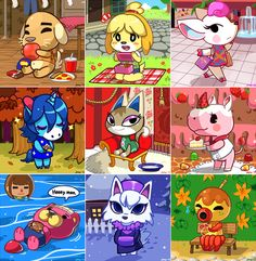 Animal Crossing New Leaf by *Jiayi on deviantART I have Julian (the blue unicorn) in my town.