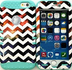 "myLife Stylish Design and Layered Protection Case for iPhone 6 Plus (5.5"" Inch) by Apple {Galaxy Blue and White ""Chevron Colorful Nebula Finish"" Three Piece SECURE-Fit Rubberized Gel} myLife Brand Products http://www.amazon.com/dp/B00PX8AYT6/ref=cm_sw_r_pi_dp_4W2Cub1PZKVKV"