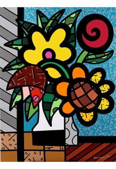 FRIDA acrylic print by Romero Britto (unframed) $750