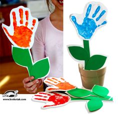 Handprint Flower. cute mother's day gift, too