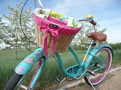 "Cruiser Candy panier Liner Hisbiscus Noir//Blanc 14/"" X 9/"" X 9/"" Vélo"