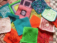Chain Stitch Square  by Mary Lokken. Free pattern on Ravelry.