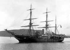 The screw sloop USS Hartford – flagship of Adm. David Farragut at the Battle of Mobile Bay (US Navy)
