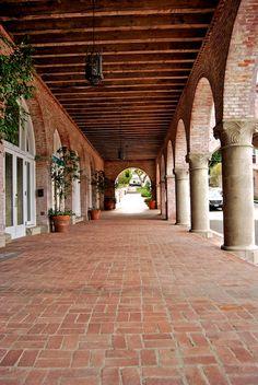 wood beams AND BRICK!!!  Malaga Cove Plaza, Palos Verdes CA
