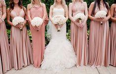 Look das madrinhas em rosa claro / rosa chá