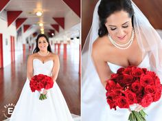 bridal bouquet, all red, red bouquet #fleurtaciousdesigns - Elario Photography