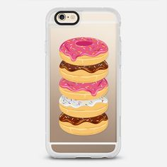 Pink & Sprinkles Donut Stack // Transparent Doughnuts - New Standard iPhone 6 Case in Clear and Clear by Samantah Ranlet | @casetify