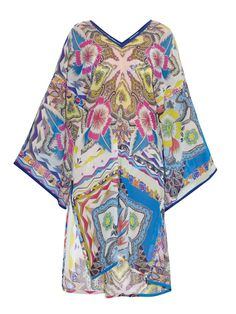 Paisley-print silk-chiffon kaftan by Etro | Shop now at #MATCHESFASHION.COM