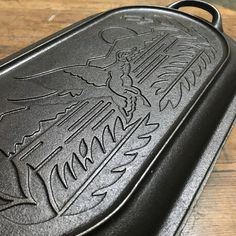 Lodge Sportsman's Duck Cast Iron 10 Qt Wildlife Series Oval Roaster/Fryer (ロッジ スポーツマンズクッカー ワイルドライフ)