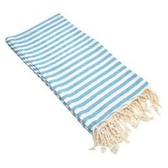 Linum Home Textiles Fun in the Sun Pestemal Turkish Cotton Bath Towel Color: Turquoise Blue Diy Window Shades, Bedroom Built Ins, Built In Bunks, Minimal Wardrobe, Young House Love, Pretty Beach, Pine Floors, Shed Storage, Storage Ideas