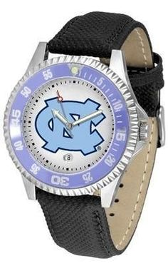 North Carolina Tar Heels UNC NCAA Mens Leather Wrist Watch by SunTime. $68.95. Men. Date Calendar And Rotating Bezel. Adjustable Band. Poly/Leather Band. Officially Licensed North Carolina Tarheels Men's Leather Sports Watch. The Competitor Watch With Poly / Leather Band is the hottest design in watches today! A functional rotating bezel is color-coordinated to compliment your favorite team logo. A durable long-lasting combination nylon/leather strap together with a date c...