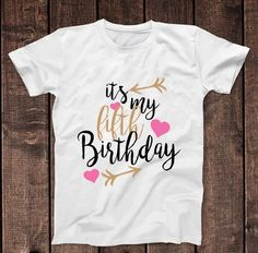 Its My 5th Fifth Birthday T Shirt