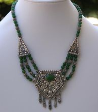 Sezgin Sterling Silver Boho Fringe Necklace from Cousins Antiques on Ruby Lane