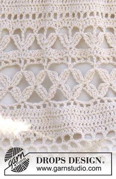 New Ideas For Crochet Summer Dress Pattern Drops Design Crochet Stitches Patterns, Crochet Chart, Lace Patterns, Filet Crochet, Crochet Jumper, Knit Crochet, Crochet Summer Dresses, Summer Dress Patterns, Quick Crochet