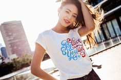 This hand lettered graphic tee reminds you to believe in yourself and be your biggest cheerleader. Wear your support of feminism and women empowerment in this feminist statement t-shirt. Statement Tees, Believe In You, Women Empowerment, Cheerleading, Feminism, Graphic Tees, Magic, T Shirts For Women, Watch