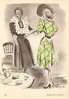 Madeleine Vramant 1945 Pinta Fashion Illustration