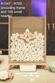 """Frame and Hearts """"Guestbook"""""""