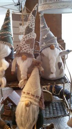 Gnomes of gray,tan & cream