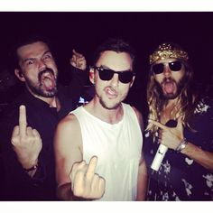 "jaredleto: ""The band. Pic by @chloebartoli """