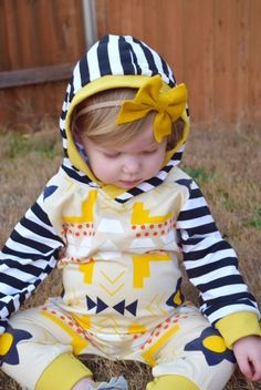 Riley Aztec Romper / Salt City Littles/Girls fashion, kid style, clothes for toddlers, baby clothes