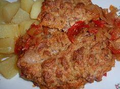 Řízky naruby - na zelenině (leču) Pork, Treats, Chicken, Kale Stir Fry, Sweet Like Candy, Goodies, Sweets, Pork Chops, Snacks