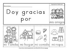 Dual Language with Mrs.: I'm Thankful Activities Preschool Spanish Lessons, Spanish Teaching Resources, Spanish Activities, Teaching Activities, Therapy Activities, Vocabulary Activities, Preschool Worksheets, Preschool Crafts, Dual Language Classroom
