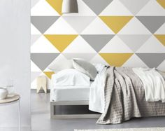 Geometric Art Deco Pattern Self Adhesive Removable by Livettes