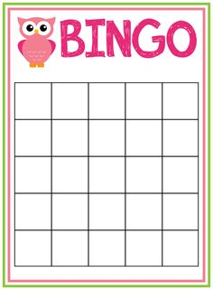 blank printable bingo cards | Bingo Game ~ A template & pictures ...