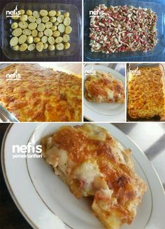 Baked Chicken with Bechamel Sauce - With Detailed Pictures - Yummy Recipes - Seafood Recipes Chowder Recipes, Seafood Recipes, Meat Recipes, Chicken Recipes, Yummy Recipes, Yummy Food, Turkish Recipes, Ethnic Recipes, Turkish Kitchen