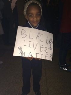 A young protestor in D.C. Black lives matter. Photo by Betsy Woodruff.