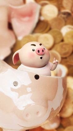Pig Wallpaper, Funny Phone Wallpaper, This Little Piggy, Little Pigs, Kawaii Pig, Cute Piglets, Pig Drawing, Pig Illustration, Funny Pigs