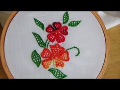 Hand Embroidery: Blanket Stitch Filling - YouTube