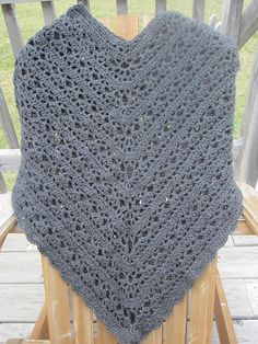 Ravelry: MsLeeLoo's Poncho with fan edge variation; Stylish Poncho Pattern in Lane Cervinia Caprice 100%acrylic 5.25 skeins 696meters and H hook.