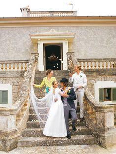 burda style - Schnittmuster - Bodenlanges Brautkleid aus Taft und Organza mit Schluppe am Ausschnitt, Nr. 107 aus 03-2011