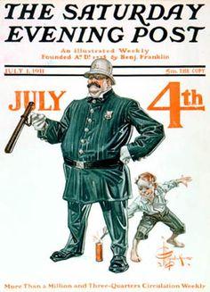 Fourth Of July by J. C. Leyendecker,  July 1, 1911, Saturday Evening Post.
