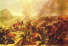 Battle at Nazareth by Antoine-Jean Gros - French campaign in Egypt and Syria.
