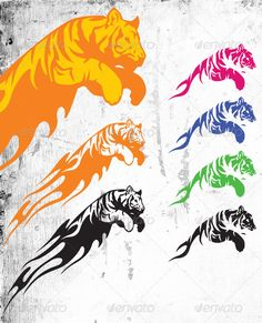Tiger — AI Illustrator #roar #animal • Available here → https://graphicriver.net/item/tiger/509347?ref=pxcr