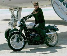 Even #TomCruise trusts the Continental TKC 80. Still from Mission Impossible 3 on one of 5 purpose built #Triumph #Scramblers
