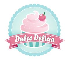 Nathu´s Cupacakes Logo Dulce, Bakery Logo Design, Fondant Cupcakes, Bow Hair Clips, Sweets, Baby Shower, Birthday, Churros, Donuts