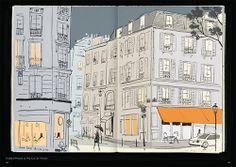 Scenes from Paris Sketchbook, by fashion illustrator Jason Brooks
