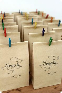 Party bags from 'Poppies for Grace'