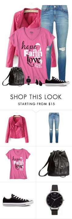 """converse look"" by divacrafts ❤ liked on Polyvore featuring Chicnova Fashion, Rebecca Minkoff, H&M, Converse, Olivia Burton, MANGO and Original"