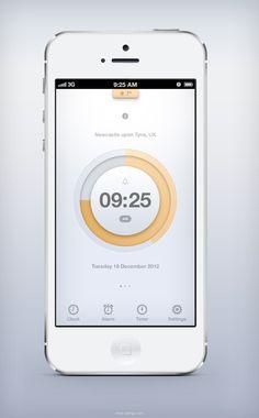 (via Dribbble - real_pixels.jpg by Piotr Kwiatkowski) Ios App Design, Web Design, Mobile Ui Design, User Interface Design, Mobile App Ui, Ui Design Inspiration, Ui Web, Photography Website, Application Design