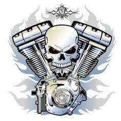 Skull V Twin